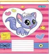 Зошит шкільний Knopka, 24 аркуші, лінія, Sweet Cat, 16/320, 00107