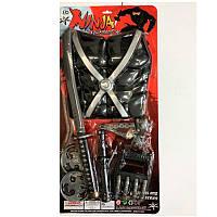 Набор ниндзя RZ1495, доспехи, меч 50см, сюрикен, перчатки