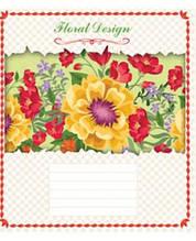 Зошит Мрії Збуваються Квітковий дизайн, 60 аркушів, лінія, 2607л