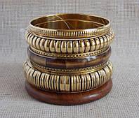 Индийские браслеты под золото