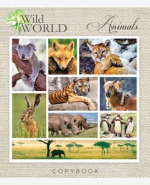 Зошит Мрії Збуваються Дикі тварини, 48 аркушів, лінія, 2214л