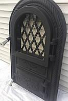 """Дверцы печные, для барбекю """"Корона арочная со стеклом"""". Дверцы для кухни"""