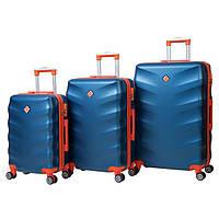 Чемодан сумка дорожный Bonro Next набор 3 штуки синий  Поликарбонат
