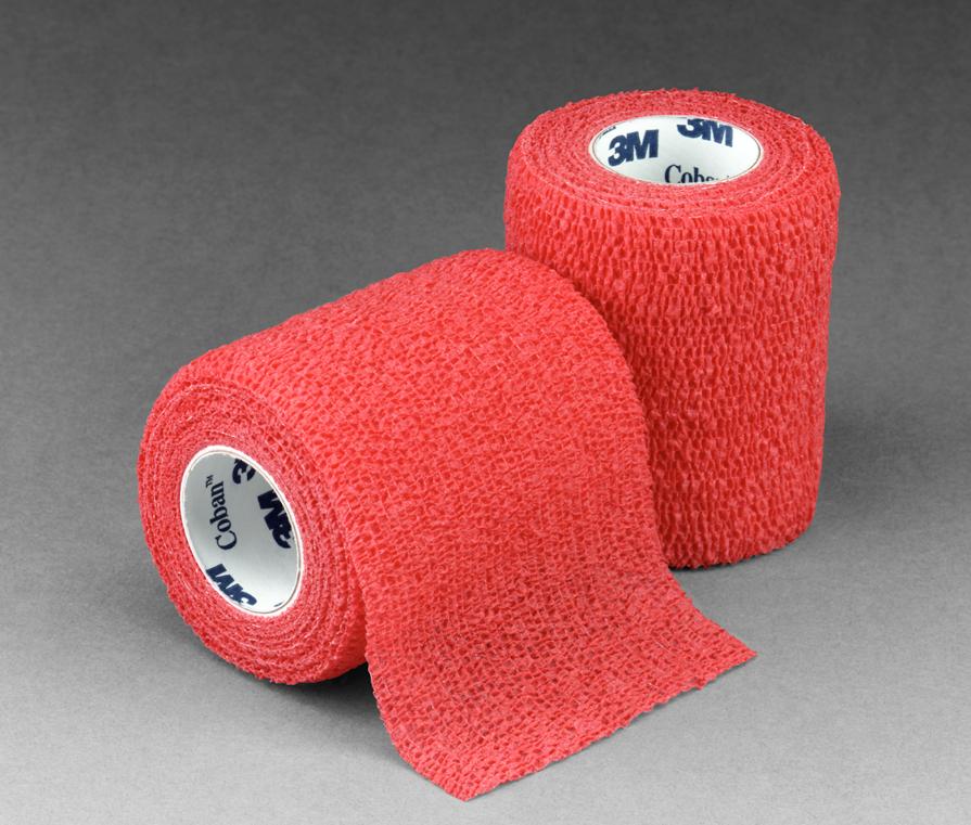 3M Кобан (Coban) красный  7,5см x 4,6м - Аутоадгезийний эластичный бинт