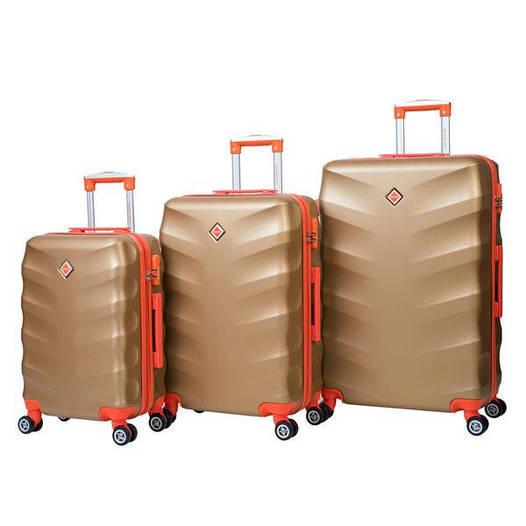 Чемодан сумка дорожный Bonro Next набор 3 штуки золотой