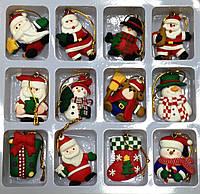 Набор новогодних подвесок, магнитов 12 шт, 4,5х4,5 см, Новогодние сувениры, Днепропетровск