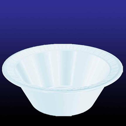 Тарілка глибока Dart, 12BWWCR, полістирол зпінений,300-360 мл, біла, фото 2