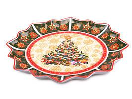 """Большое фарфоровое блюдо """"Новогодняя коллекция"""" 39 см. Новогодняя посуда"""