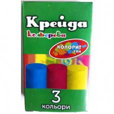 Крейда асфальтна Колорит, 3 кольори, кругла, фото 2