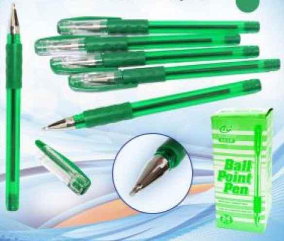 Ручка кулькова Tianjiao, TY-501P, зелена