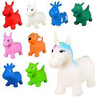 Прыгуны-животные MS 1579, микс вид(единор,коров,лошад,дракон,собак),1200г-1350г,кул, 31-20-9см