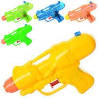 Водяной пистолет M 3076 (120шт) размер маленький, 13.5см, 2 вида, микс цветов, в кульке,11.5_18_3cм