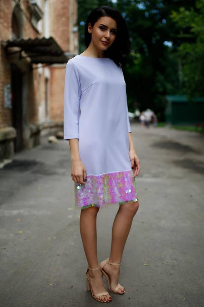 Сиреневое платье ALVENA
