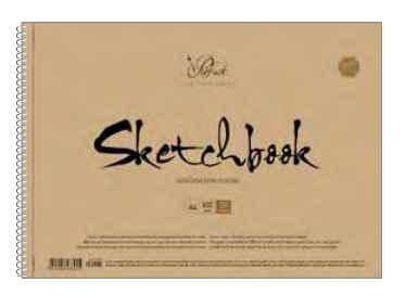 Альбом для ескізів Школярик, Prof·art, А4, 50 аркушів, крафт картон, фото 2