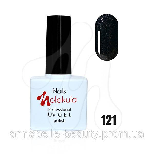 Гель-лак 11мл №121 чорний перли