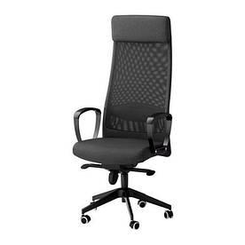 IKEA, MARKUS, Рабочий стул, темно-серый (702.611.50)