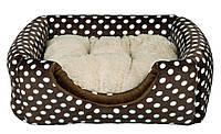 Лежак домик для собак Mina Trixie (Трикси) 40х32х40 см коричневый/беж