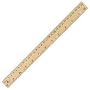 Лінійка 40см дерев'яна ОІІі, OL5040