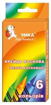 Набір воскової крейди Умка, 6 кольорів