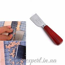 Шорный нож прямой для работы с кожей, фото 3