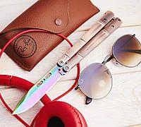 Складной нож-бабочка Вулкан 2, для ежедневного ношения, на подарок парню
