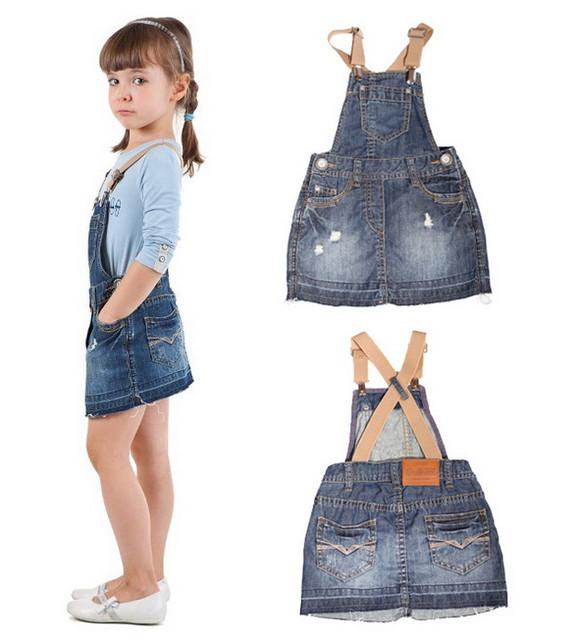Джинсовые сарафаны и юбки для девочек.Платья оптом.
