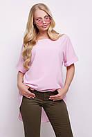 7292e832443 Женская розовая туника для полных женщин Лаура-Б к р