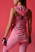 Костюм тройка NIKE  (лосины, топ, майка) нежно розовый