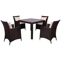 Комплект мебели из ротанга Samana-4 из ротанга Elit (SC-8849-S2) Brown MB1034 ткань A13815