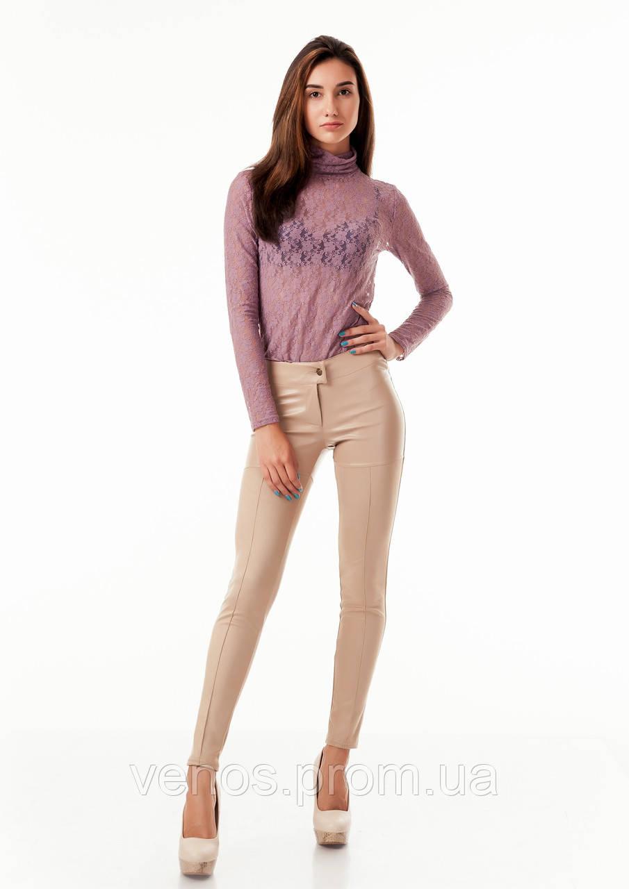 Трендовые женские леггинсы с имитацией кожаных шортиков  L084