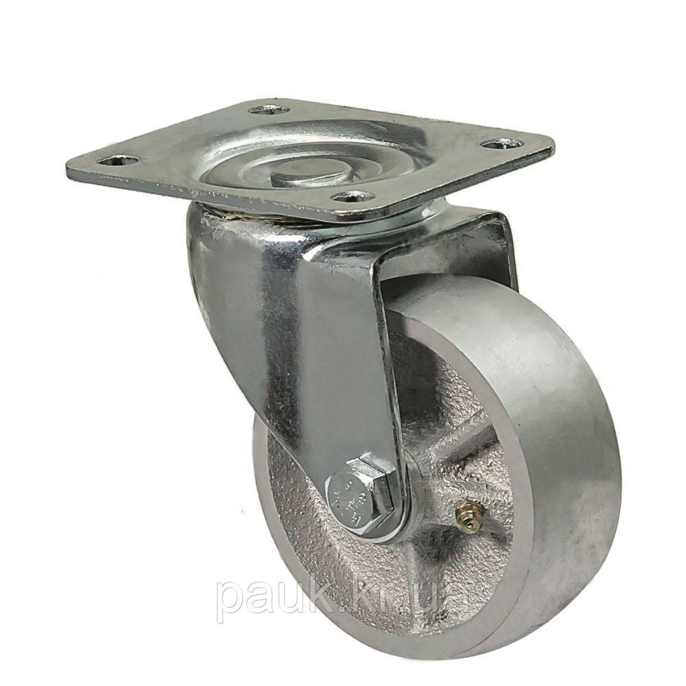 """Колесо 4802-M-100-P(48 """"Medium"""") Ø 100мм, поворотне з кріпильною панеллю, підшипник ковзання"""
