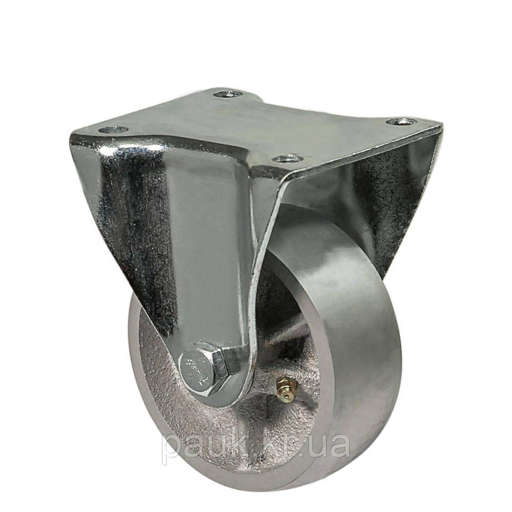 """Колесо 4807-M-125-P(48 """"Medium"""") Ø 125мм, неповоротне з кріпильною панеллю, підшипник ковзання"""