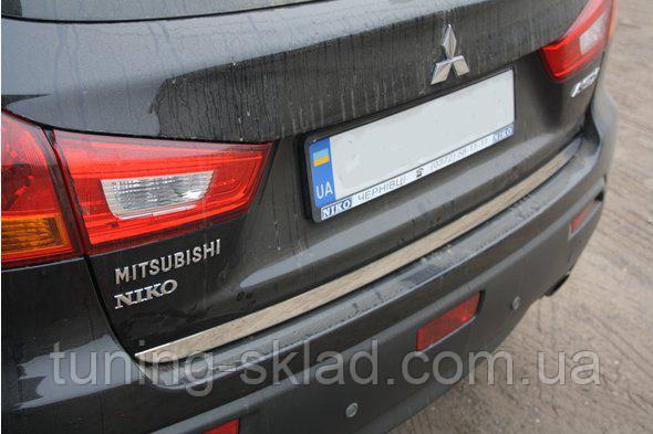 Хром кромка багажника Mitsubishi ASX 2010_2016 (Митсубиси АСХ)
