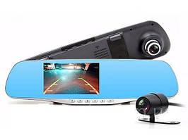 Видеорегистратор зеркало на 2 камеры Anytek G77 Full HD 1080P Сенсорный экран