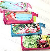 Пенал- косметичка раскладной Фламинго