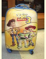 """Пластиковый детский чемодан 18"""" для путешествий Голубой, фото 1"""