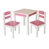 """Дерев'яний столик зі стільчиками """"Юніор"""""""