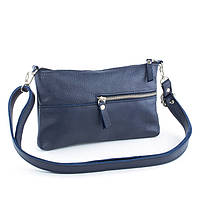 Кожаная сумка модель 10 синий флотар, фото 1