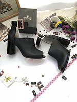 Туфли с открытым носком из натуральной кожи