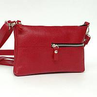 Кожаная сумка модель 10 красный флотар