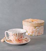 Фарфоровая чашка с блюдцем WAB-02- 1