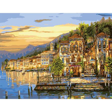 Городской пейзаж размер 50х65