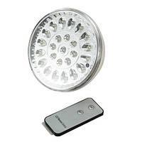 Светодиодная лампа с аккумулятором и пультом  25 LED, фото 1