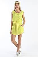 Платье-туника желтая