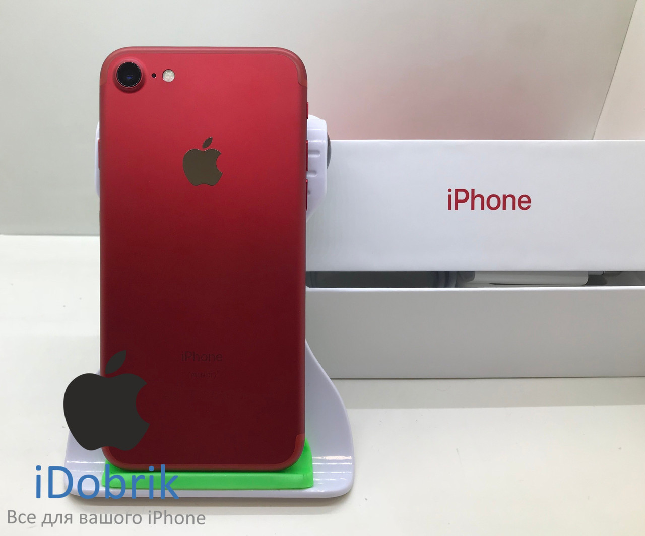 Телефон Apple iPhone 7 128gb Product Red Neverlock 9/10