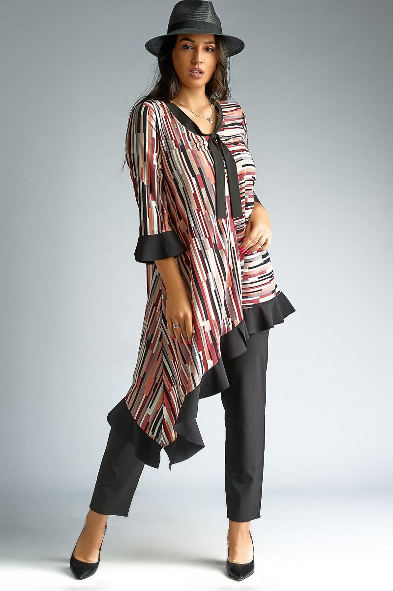 e9b963765d1 Женский брючный костюм с туникой. 2 цвета. Размеры   50