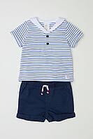 Комплект HM футболка и шортики 2-4 месяца