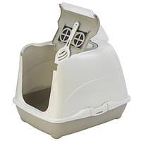 Туалет Moderna Flip Cat для котов 50х39х37 см Тепло-серый