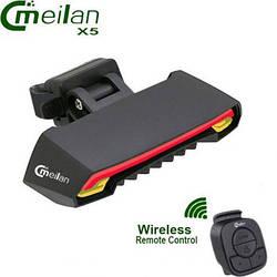 Задний вело фонарь  с указателями поворотов Meilan X5