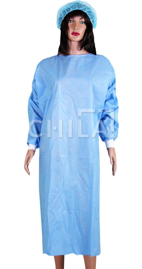 Халат стерильный хирургический 140см (L/XL) одноразовый